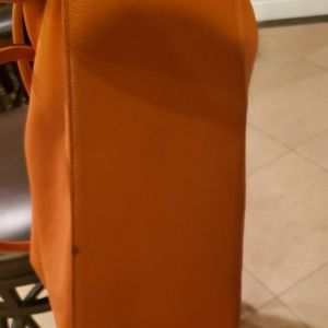 Michael Kors Bags - Large orange Michael Kors shoulder bag.